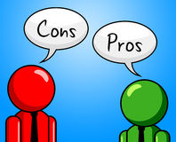 Cons Pros Indicates All Right And Ok Royalty Free Stock Image