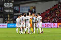 Consadole Sapporo no convite internacional 2 do futebol de Banguecoque Imagens de Stock