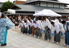 Consagración sintoísta, Yasaka Jinja, Kyoto, Japón Fotografía de archivo libre de regalías