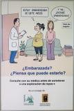 Consapevolezza del manifesto relativamente alla gravidanza Fotografia Stock