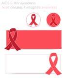 Consapevolezza di HIV e dell'AIDS Immagini Stock Libere da Diritti