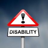Consapevolezza di inabilità. Fotografia Stock