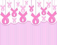 Consapevolezza rosa del nastro del cancro al seno illustrazione vettoriale