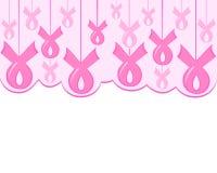 Consapevolezza rosa del nastro del cancro al seno illustrazione di stock