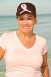 Consciência de apoio do cancro da mama da mulher fotografia de stock royalty free