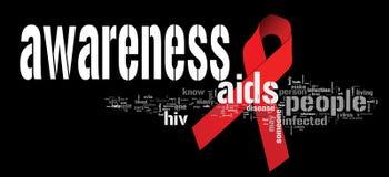 Consciência do AIDS ilustração royalty free