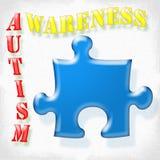Consciência do autismo Foto de Stock