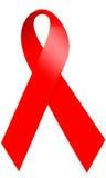 Consciência vermelha do AIDS da fita Imagem de Stock Royalty Free
