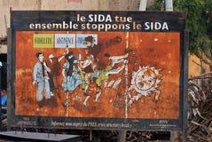Conscience d'aides en Afrique Images libres de droits