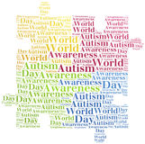 Conscience d'autisme de nuage de Word connexe Images libres de droits