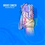 Conscience de cancer du sein illustration libre de droits