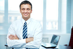 Conscientious manager Royalty Free Stock Photo