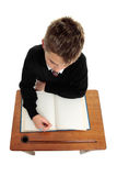 Conscientious school boy student Stock Photography