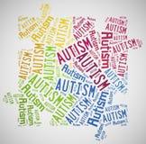 Conscientização do autismo da nuvem da palavra relativa Imagem de Stock