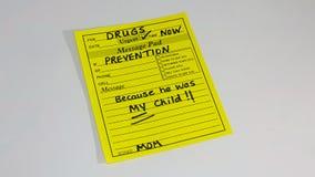 Conscientização e prevenção da toxicodependência Fotografia de Stock Royalty Free
