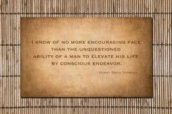 Conscious Endeavor - Henry David Thoreau Stock Photo