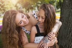 Conscious motherhood. Happy lifestyle together. Stock Photos