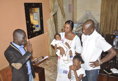 CONSECRATION OF A BABY IN AFRICA Royalty Free Stock Photos
