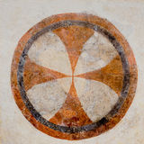 Consecration Cross enclosed within a circle Royalty Free Stock Photos