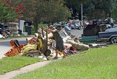 Consecuencias de la inundación de Baton Rouge 2016 foto de archivo libre de regalías