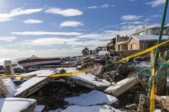 Consecuencias de Sandy Imagenes de archivo