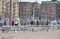 Consecuencias de Sandy del huracán Foto de archivo