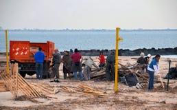 Consecuencias de Sandys del huracán Imagen de archivo libre de regalías