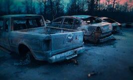 Consecuencias de un fuego Imagenes de archivo