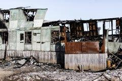 Consecuencias de un fuego en la casa imágenes de archivo libres de regalías