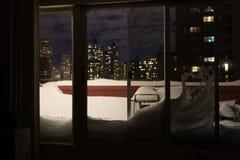 Consecuencias de una tormenta del invierno Fotos de archivo