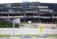Consecuencias del ataque de la caída plana en Austin Tejas Imagen de archivo