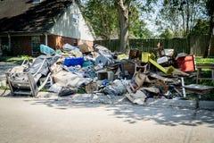 Consecuencias del huracán Imagen de archivo libre de regalías
