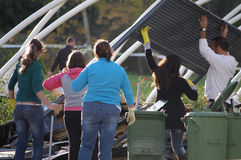 Consecuencias del tornado Foto de archivo