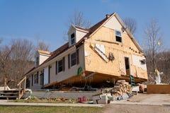 Consecuencias del tornado en Lapeer, MI. Foto de archivo