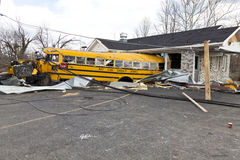 Consecuencias en Henryville, Indiana del tornado Fotos de archivo libres de regalías