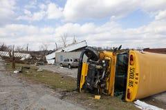 Consecuencias en Henryville, Indiana del tornado Foto de archivo libre de regalías