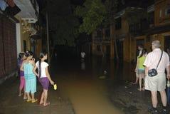 Consecuencias Ketsana Hoi un Vietnam imagen de archivo