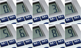 Consecutive numbers Royalty Free Stock Photos