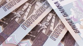 Consecutive numbers on rubles stock video