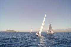 Consecutive. Regatta taking place in the Black Sea off the coast of Turkey Stock Photography