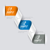Consecutive steps design element Stock Photo