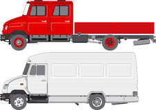 Consegna/camion del carico Immagini Stock Libere da Diritti