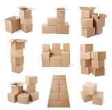 Consegna commovente del trasporto del pacchetto della scatola di cartone Immagine Stock Libera da Diritti