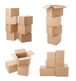 Consegna commovente del trasporto del pacchetto della scatola di cartone Immagini Stock Libere da Diritti