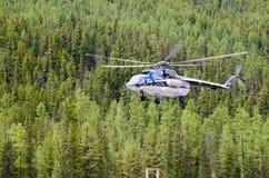 Consegna dei passeggeri alle montagne Sayan Immagine Stock Libera da Diritti