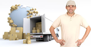 Consegna dei prodotti Immagine Stock Libera da Diritti