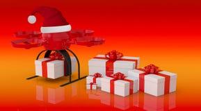 Consegna dei regali di Natale Fotografie Stock Libere da Diritti