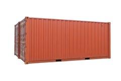 Consegna del carico del contenitore isolata Fotografia Stock Libera da Diritti