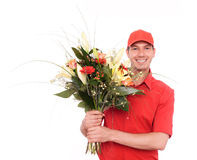 Consegna del fiore Fotografie Stock Libere da Diritti