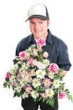 Consegna del fiore di giorno di madri immagini stock libere da diritti
